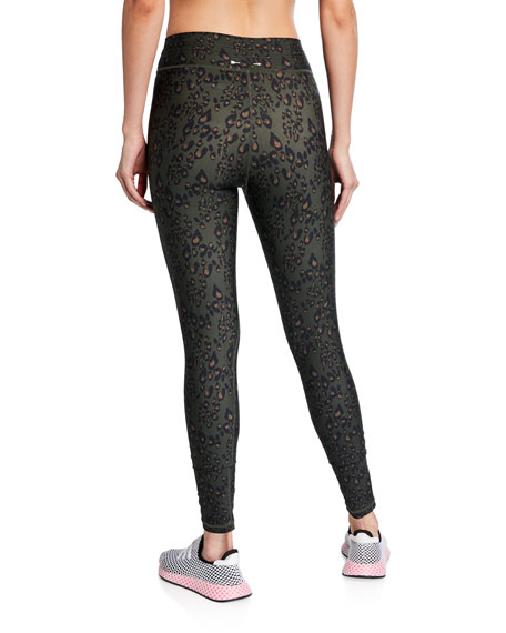 The Upside Leopard-Print Drawstring Yoga Pants