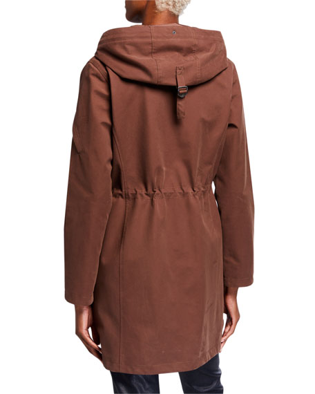 49 Winters Long Hooded Parka, Brown