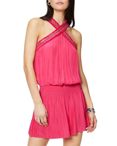 Ramy Brook Alara Halter Mini Dress