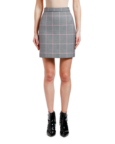 Short Check Pencil Skirt
