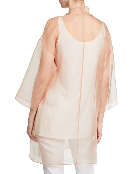 Eileen Fisher Petite Washed Silk Organza Kimono