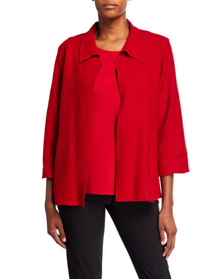 Caroline Rose Plus Size Paris Plush Mid-Length Easy Jacket