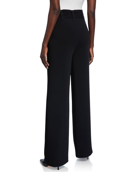 cinq a sept Eliza Belted Crepe Pants