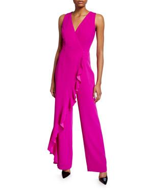 1fb04030794c Trina Turk Minimalist Sleeveless Ruffle Overlay Jumpsuit