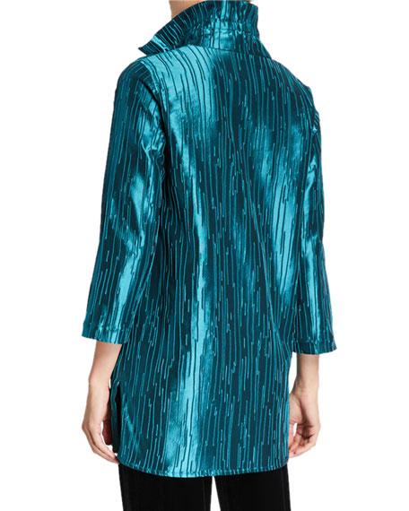 Caroline Rose Plus Size Luminous Jacquard 24/7 Shirt