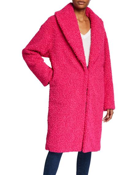 Alice + Olivia Ora Faux-Fur Shawl-Collar Oversized Coat