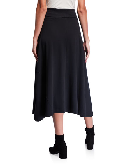 Joan Vass Petite Long Cotton Interlock Skirt