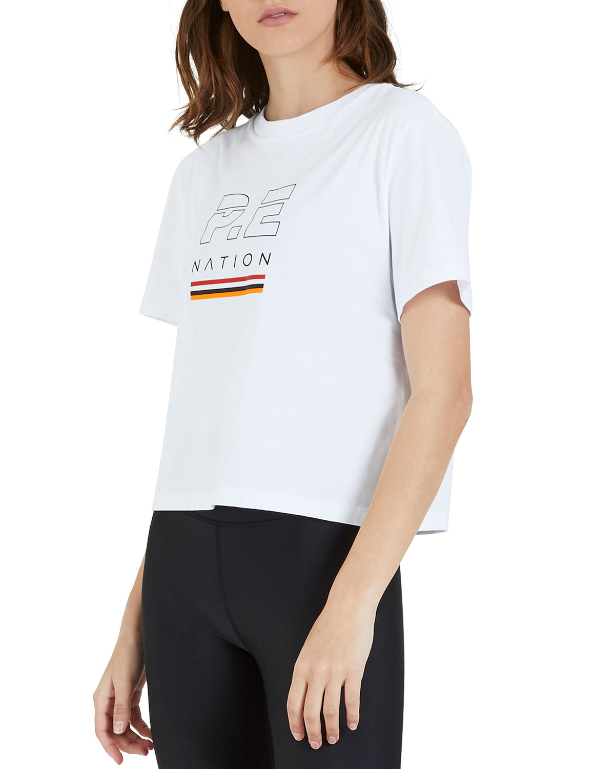 PE Nation Ignition Graphic Cropped Tee