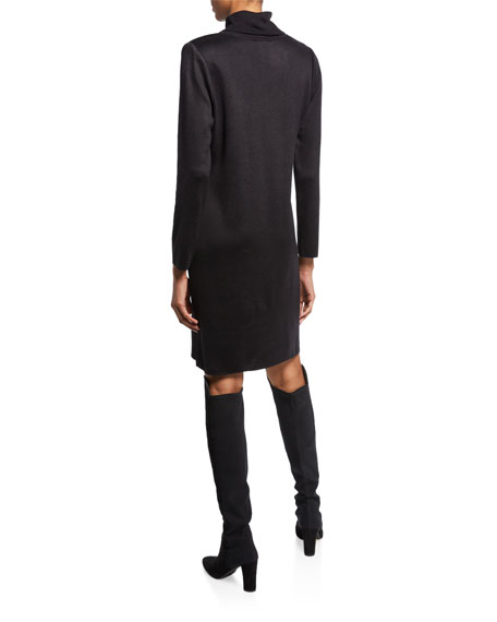 Image 2 of 2: Misook Petite Long-Sleeve Turtleneck Dress