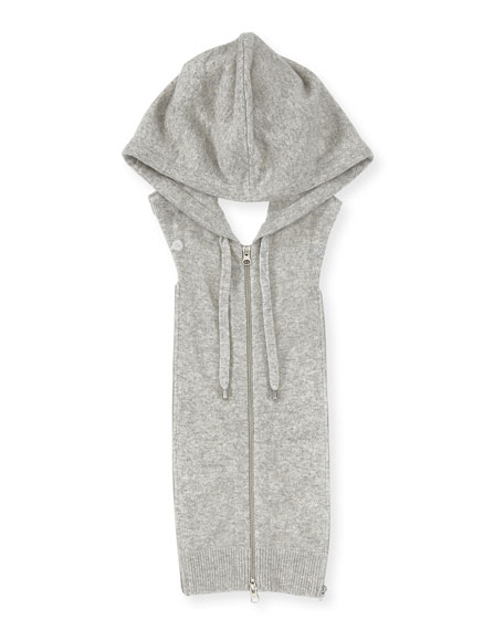 Image 3 of 4: Veronica Beard Cashmere Hoodie Zip-Front Dickey