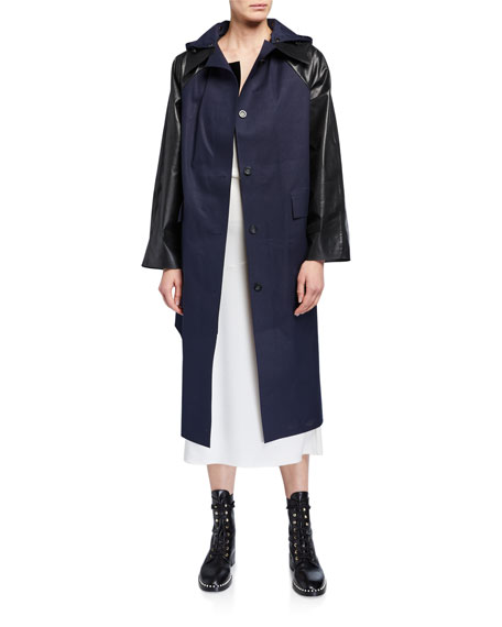 Image 2 of 3: Kassl Cotton-Blend Trench Coat