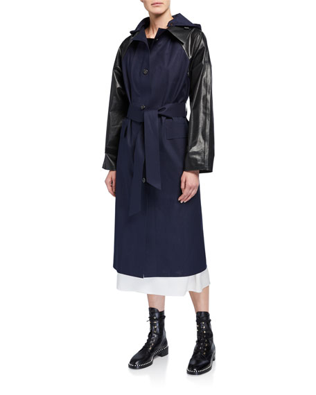 Image 1 of 3: Kassl Cotton-Blend Trench Coat