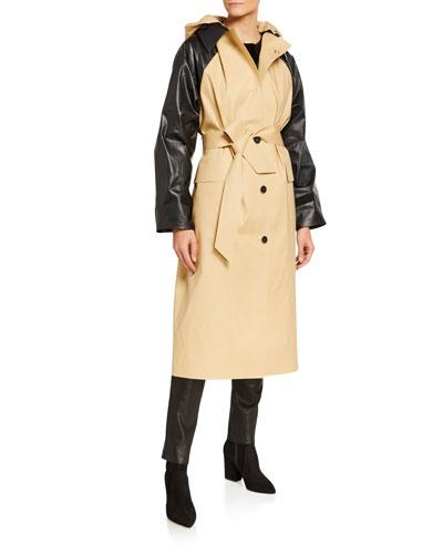 Below-the-Knee Trench Coat