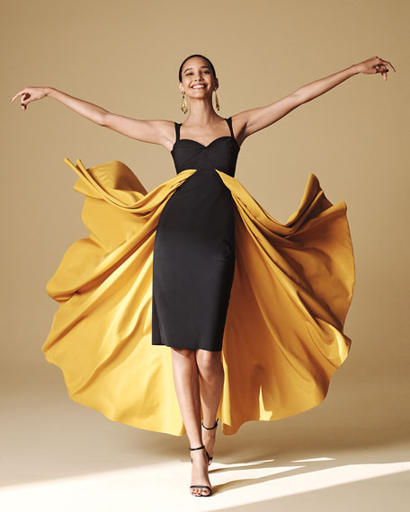 Image 2 of 3: Chiara Boni La Petite Robe Sweetheart Taffeta High-Low Sleeveless Gown