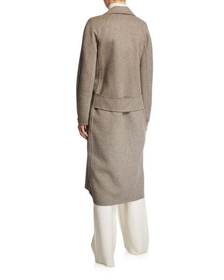 Max Mara Cardi Long-Sleeve Long 2-Button Wool Coat