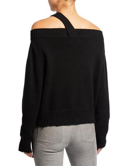 RtA Beckett Off-Shoulder Sweater