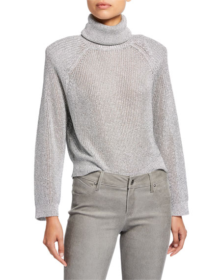Rta Sweaters MICK METALLIC TURTLENECK SWEATER