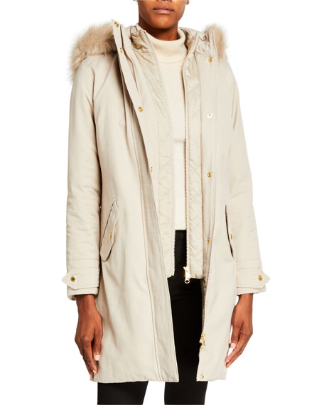 Barbour Jackets Bute Faux Fur Hooded Jacket