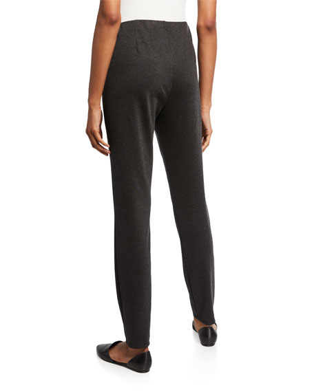 Eileen Fisher Plus Size Melange Ponte Slim Pants