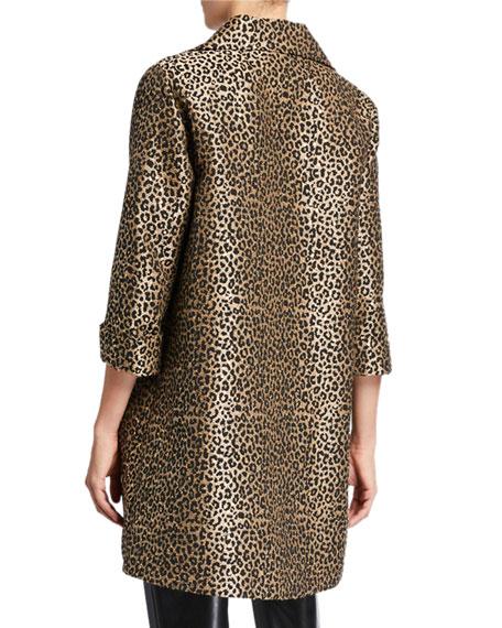 Caroline Rose Sequin Leopard Jacquard Party Jacket