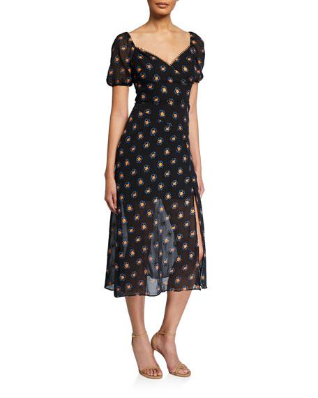La Maison Talulah Love Me Floral-Print Midi Dress