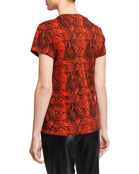 Pam & Gela Snake Print Short-Sleeve Tee