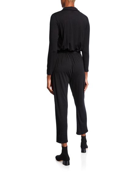 Rachel Pally Plus Size Long-Sleeve Jersey Snap Jumpsuit