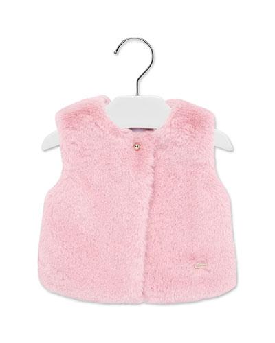 Girl's Faux Fur Vest  Size 6-36 Months