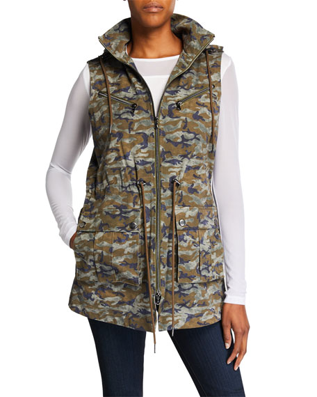 Anatomie Bella Camo-Print Zip-Front Medium-Weight Vest