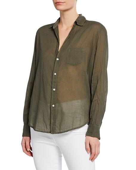 Frank & Eileen Oversized Long-Sleeve Button-Down Shirt