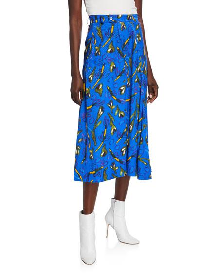 Christian Wijnants Saiba Printed Midi Skirt