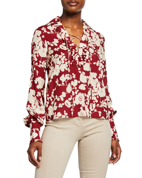 Alexis Daina Floral-Print Long-Sleeve Shirt
