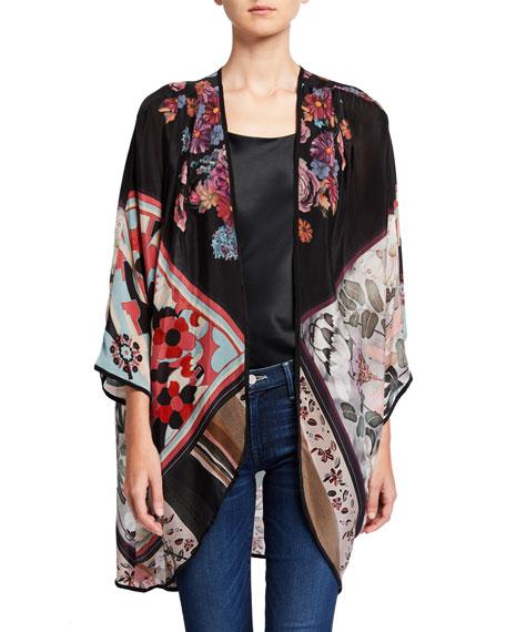 Tolani Shara Mixed-Print Cupro Jacket