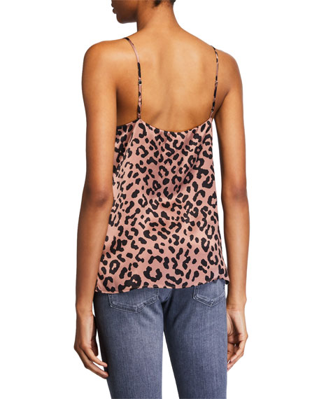 Cami NYC The Olivia Graphic Leopard Silk Cami