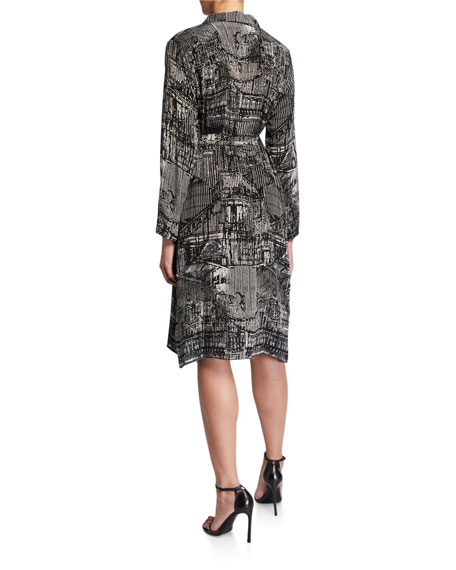 Tolani Cupro Relaxed Shirtdress