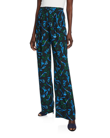 Christian Wijnants Puada Printed Silk Trousers