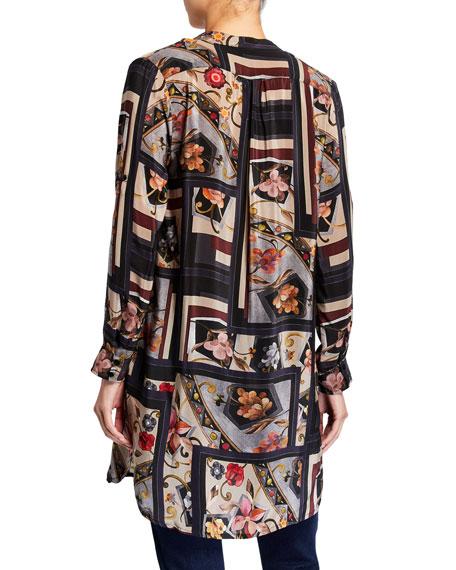 Tolani Skylar Silk Print Long Tunic