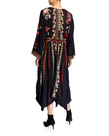 Image 2 of 2: Clara Embroidered Dress
