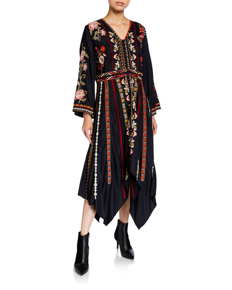 Image 1 of 2: Clara Embroidered Dress