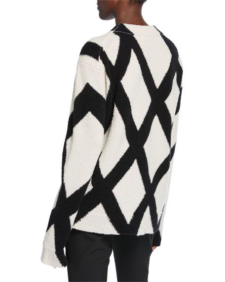 Christian Wijnants Kasia Geometric Crewneck Sweater