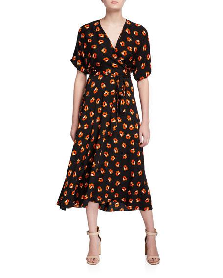 Diane von Furstenberg Kelsey Floral-Print Wrap Dress