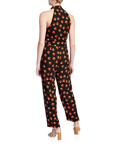 Diane von Furstenberg Pierre Floral Wrap-Front Jumpsuit