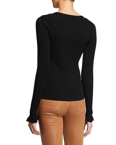 Diane von Furstenberg Fera Ribbed Square-Neck Sweater