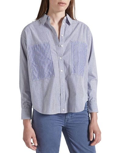 The Percy Road Striped Button-Down Blouse