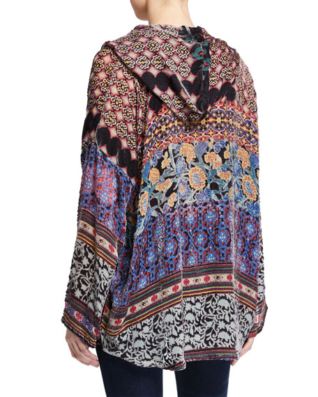 Johnny Was Karma Burnout Aztec Pullover Velvet Hoodie