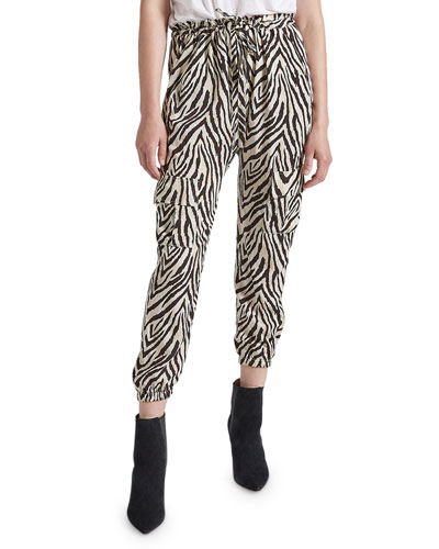 The Roxwell Zebra-Stripe Pants