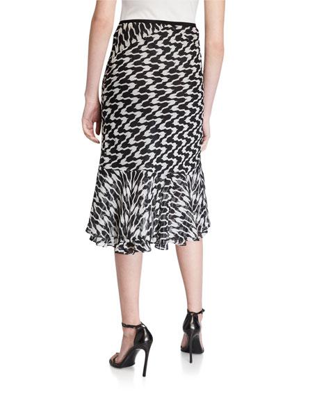 Diane von Furstenberg Debra Printed Skirt
