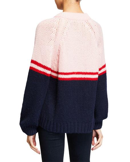 Xirena Two-Tone Alpaca Crewneck Sweater