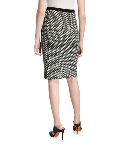 Diane von Furstenberg Mapel Geo-Print Pencil Skirt