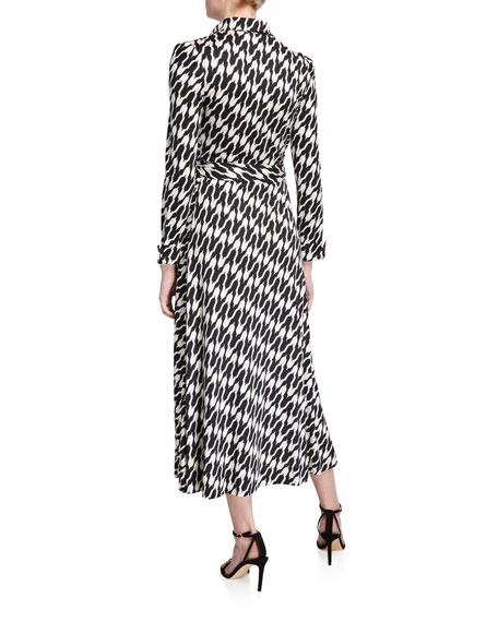 Diane von Furstenberg Sana Printed Tie-Waist Shirt Dress